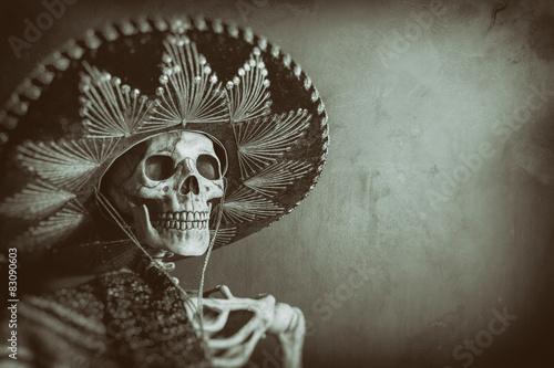 Plagát, Obraz Mexican Bandit Skeleton 7