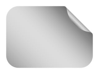 vector silver blank bent sticker