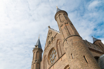 Oblique view of the Hall of Knights (Ridderzaal) in The Hague, N