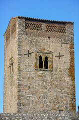 Trujillo, Cáceres, España, torre desmochada, bastión, fortaleza
