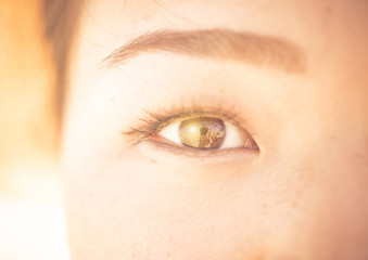asian woman eye close up