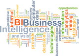 Business intelligence BI background concept