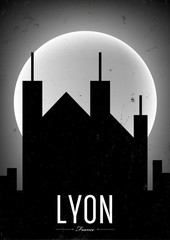 Lyon City Vintage Poster Design