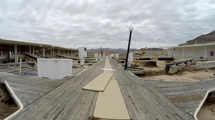 Time lapse of drought stricken marina at Lake Mead