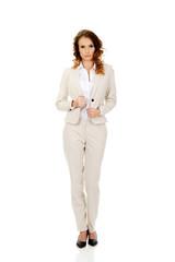 Serious confident businesswoman.