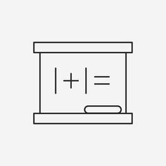 blackboard line icon
