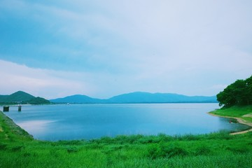 the reservoir in the countryside of Thailand