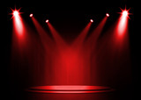 Fototapety Red stage light background