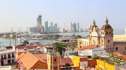 Cartagena, Colombia with the Caribbean Sea