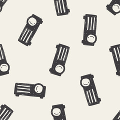 projector doodle seamless pattern background