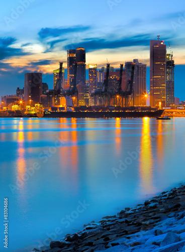 Staande foto Athene Port of Singapore