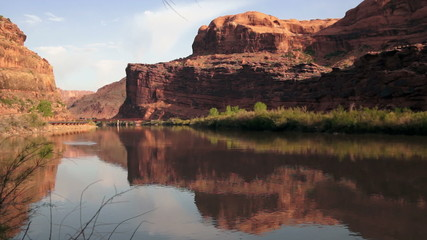 Colorado River Flowing Shore Utah Wilderness