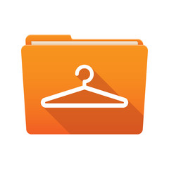 Folder icon with a hanger