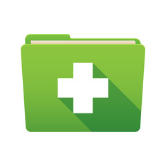 Folder icon with a pharmacy sign