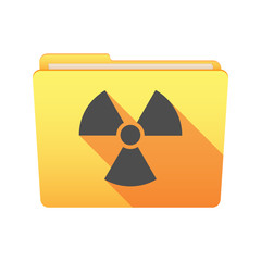 Folder icon with a radio activity sign
