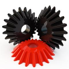 unique red gear