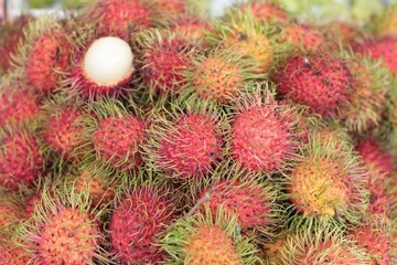 Sweet fruits rambutan
