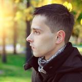 Man Portrait in the Autumn Park