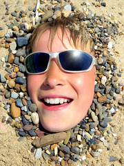 Teenager in the Sand
