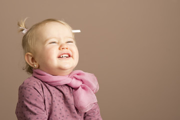 Pretty little girl laughing