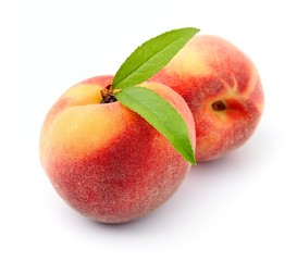 Sweet peach fruits