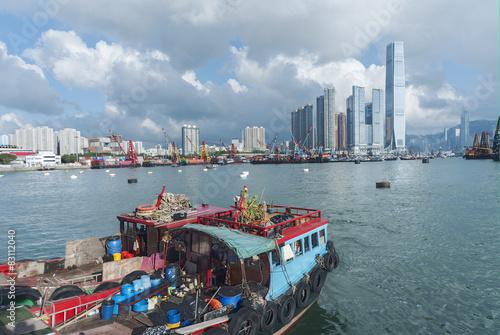 Poster Chicago Victoria Harbor of Hong Kong