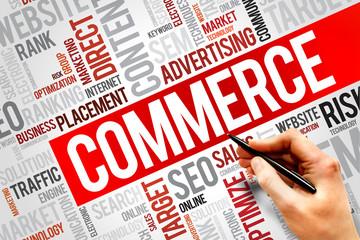 COMMERCE word cloud, business concept