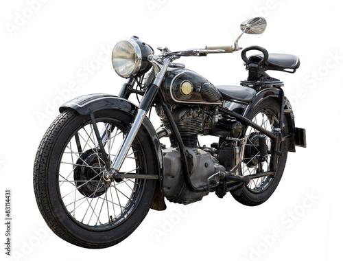 Aluminium Fiets altes antikes oldtimer Motorrad, vintage bike
