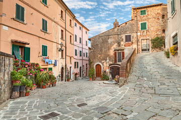 old town Castagneto Carducci, Tuscany, Italy
