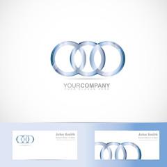 Circle rings joined logo