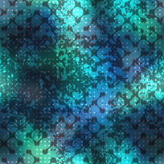 Abstract diagonal geometric pattern with droplet elements