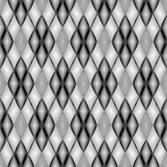 Design seamless monochrome geometric diamond pattern