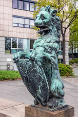 Lion sculpture in Hamburg, Germany