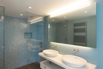 Interior, comfortable bathroom