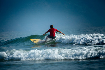 Surfer on the short board