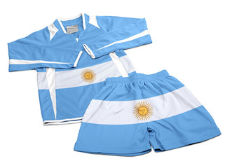 Flag from Argentina on nylon soccer sportswear clothes