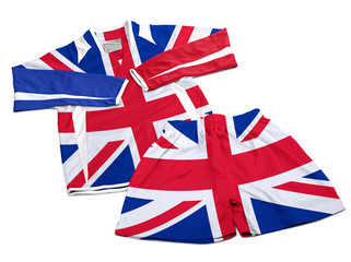 Flag from GB on nylon soccer sportswear clothes