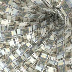 Geldstrudel aus 50 Rubelscheinen