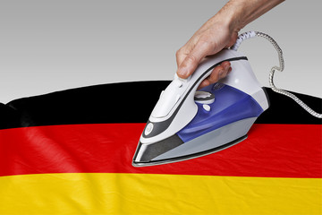 smooth out the wrinkles of Flag-Germany