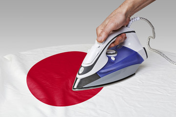 smooth out the wrinkles of Flag-Japan