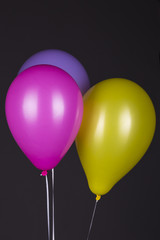Colorful Balloons on Dark Background