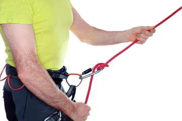 Klettersicherung mit Seil