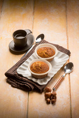 hazelnut muffin with coffee