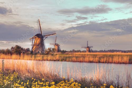 Windmills in Kinderdijk, Netherlands - 83122675