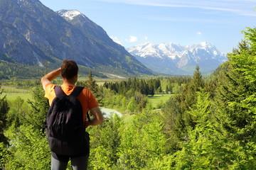 Gebirge mit Zugspitze
