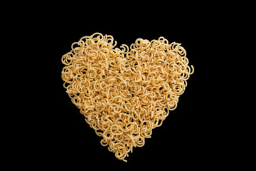 heart made of pasta to eat