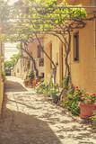 Back street in Cretan village. - 83124835