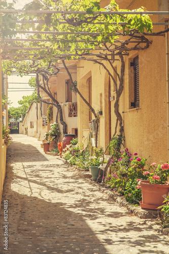 Back street in Cretan village.