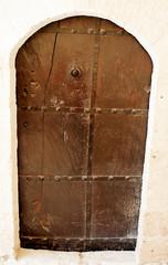 Old door, closed.