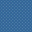 Tile vector pattern white polka dots on blue background